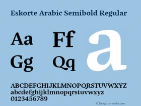 Eskorte Arabic Semibold