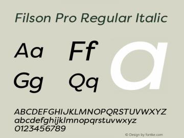 Filson Pro Regular