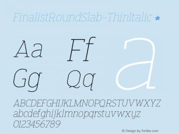 FinalistRoundSlab-ThinItalic