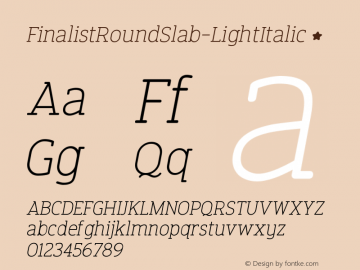 FinalistRoundSlab-LightItalic