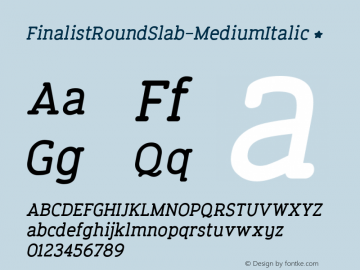 FinalistRoundSlab-MediumItalic