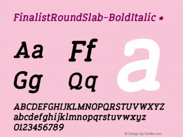 FinalistRoundSlab-BoldItalic