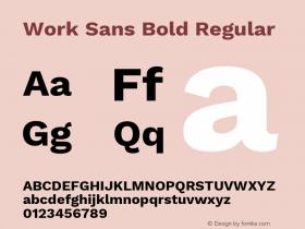 Work Sans Bold