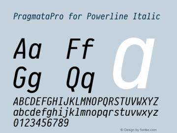 PragmataPro for Powerline