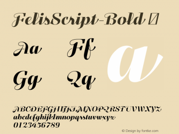 FelisScript-Bold