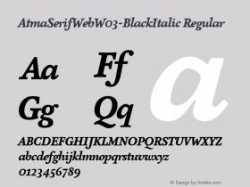 AtmaSerifWeb-BlackItalic