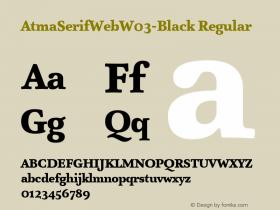 AtmaSerifWeb-Black