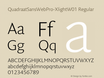 QuadraatSansWebPro-Xlight