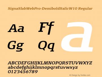 SignaSlabWebPro-DemiboldItalic
