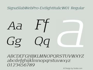 SignaSlabWebPro-ExtlightItalic