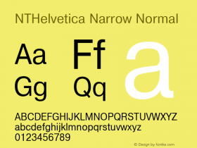 NTHelvetica Narrow