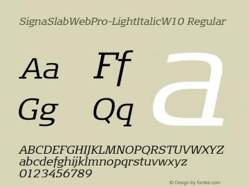SignaSlabWebPro-LightItalic