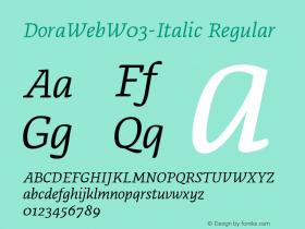 DoraWeb-Italic