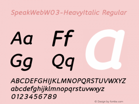 SpeakWeb-HeavyItalic