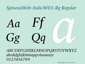 SpinozaWeb-Italic-Rg