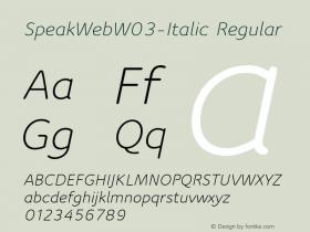 SpeakWeb-Italic