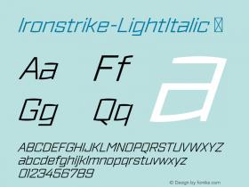 Ironstrike-LightItalic