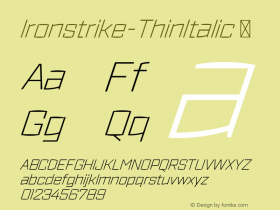 Ironstrike-ThinItalic
