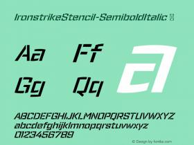 IronstrikeStencil-SemiboldItalic