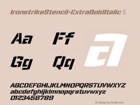 IronstrikeStencil-ExtraBoldItalic