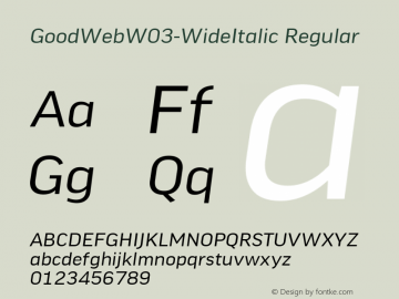 GoodWeb-WideItalic