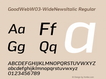 GoodWeb-WideNewsItalic