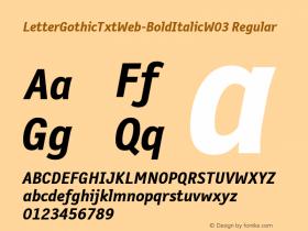 LetterGothicTxtWeb-BoldItalic