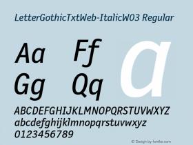 LetterGothicTxtWeb-Italic