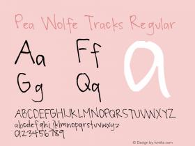 Pea Wolfe Tracks