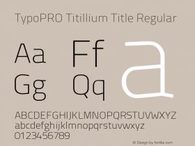 TypoPRO Titillium Title