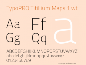 TypoPRO Titillium Maps