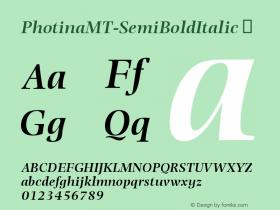PhotinaMT-SemiBoldItalic