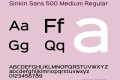Sinkin Sans 500 Medium