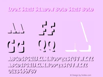 Look Serif Shadow Bold