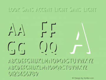 Look Sans Accent Light