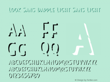 Look Sans Dapple Light