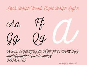 Look Script Wood Light