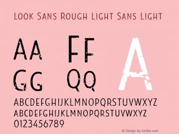 Look Sans Rough Light