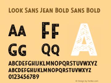 Look Sans Jean Bold