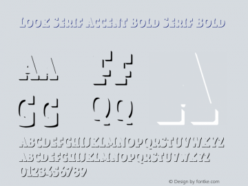 Look Serif Accent Bold