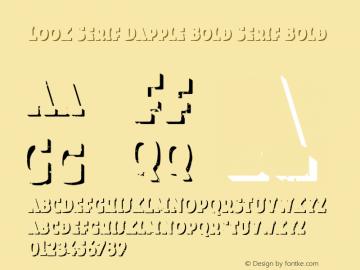 Look Serif Dapple Bold