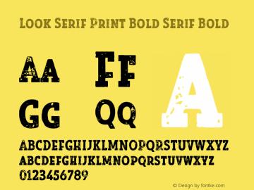 Look Serif Print Bold