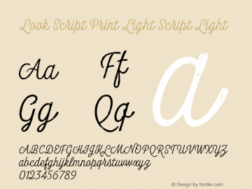 Look Script Print Light