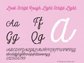Look Script Rough Light