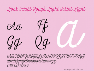 Look Script Rough Light