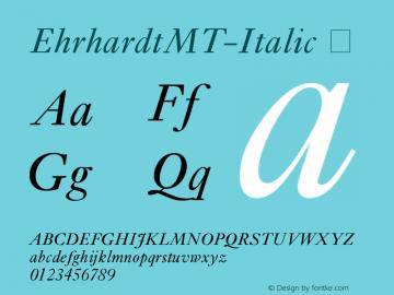 EhrhardtMT-Italic
