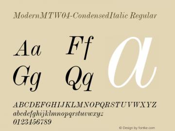 ModernMT-CondensedItalic