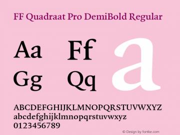 FF Quadraat Pro DemiBold