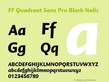 FF Quadraat Sans Pro Black