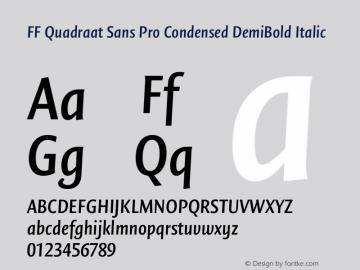 FF Quadraat Sans Pro Condensed DemiBold